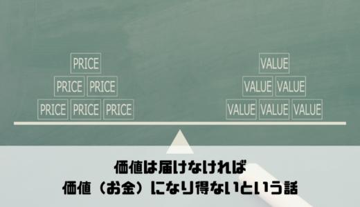 価値は届けなければ価値(お金)になり得ないという話